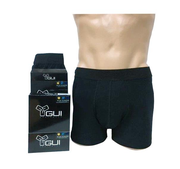 Chiloti tip boxer pentru barbati GUI Underwear – negru, marime M/4