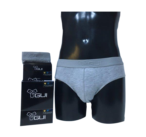 Chiloti tip slip pentru barbati GUI Underwear – gri, marime M/4