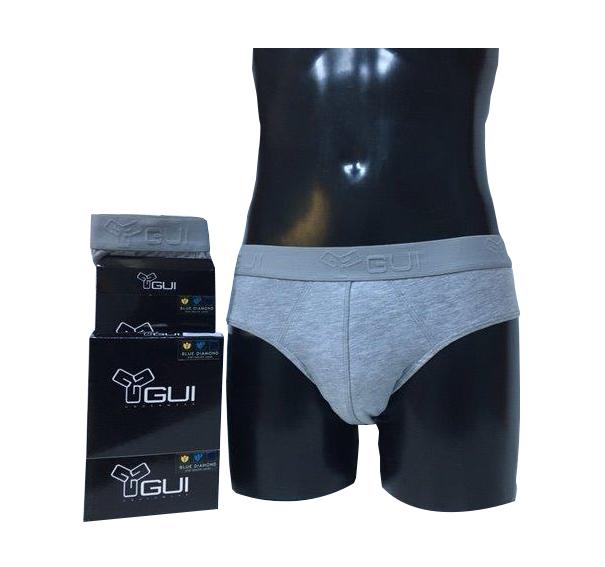 Chiloti tip slip pentru barbati GUI Underwear – gri, marime XXL/7