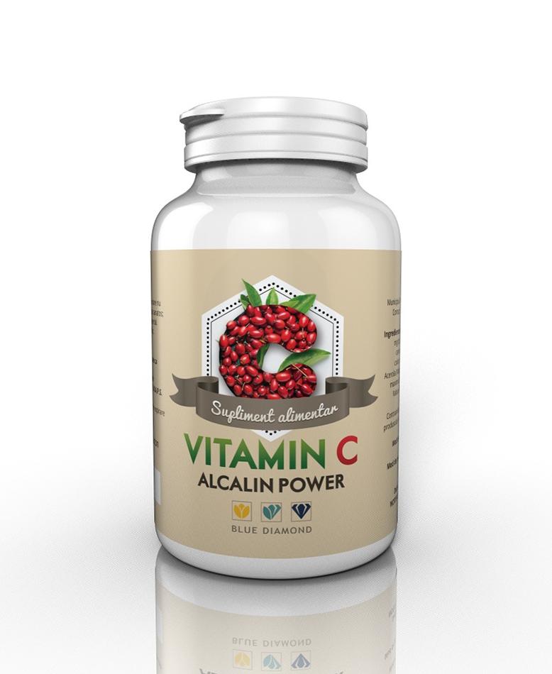 Vitamina C Alcalin Power - Vitamina C din ascorbat de calciu si maces si acerola