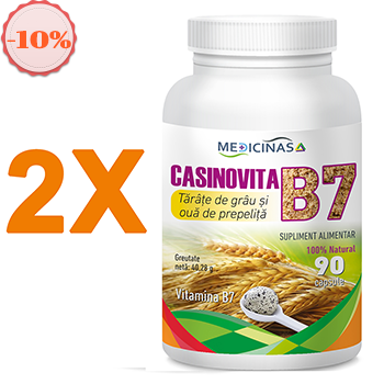 Pachet promotional 2 x Casinovita B7 – Tărâțe de grâu și ouă de prepeliță