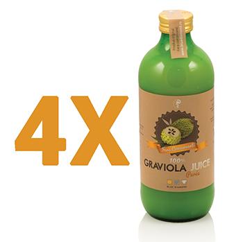 Pachet promotional 4x Graviola Juice 100 % puree